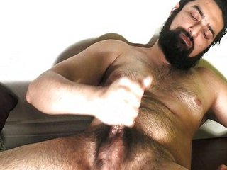 Sexy Beard Hunk Jacks &; Cums 2 / 83
