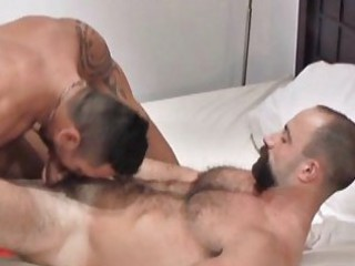 Hot beared mature gay stud gets roughly fucked / 132