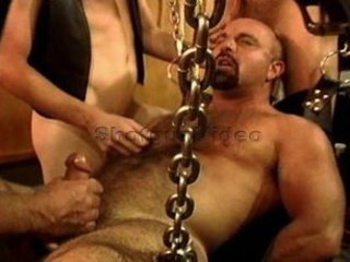 Five man sensual CBT, BDSM orgy featuring bears and otters with cum. / 426