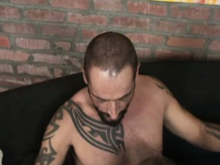 Tattooed Stud Fucks Bear / 27