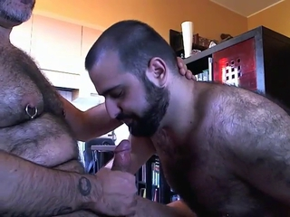 Bearded man sucking / 425