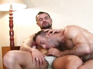 Bearded mature gay hunk blows hard throbbing boner / 95