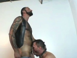 Tattooed Bear Fucks Friend / 9