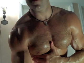Leather Cumming muscle stud! / 108
