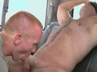 muscular bear gets blowjob from gay stud / 54