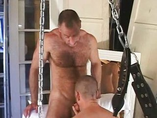 Gay Bear Tattooed Guy Fucking Partner / 73
