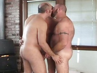 Fat gay bears fucking in hot threesome / 1967
