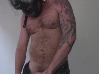 Motorcycle Dude Is Big, Beefy, Uncut and Hairy / 29