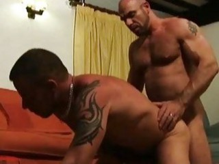 Mature bearded gay hunks having incredible sex / 74